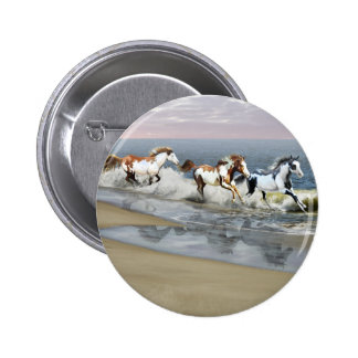 Painted Ocean Pinback Button