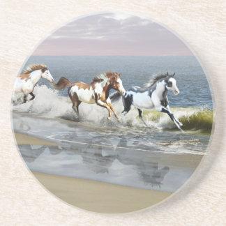 Painted Ocean Sandstone Coaster