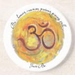 """Painted Om """"Just Be"""" Coaster"""