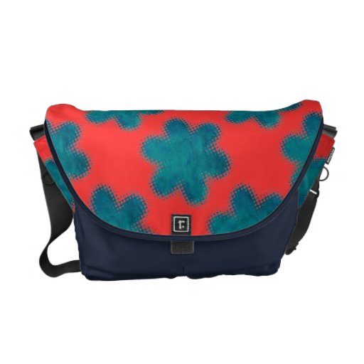 Painted-on Abstract Flower Print Bag Courier Bags