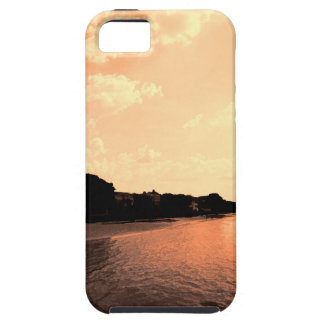 Painted Orange Silhouette Sunset iPhone SE/5/5s Case