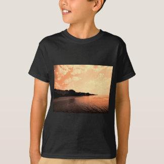 Painted Orange Silhouette Sunset T-Shirt