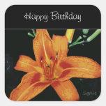 Painted Orange Tiger Lily Sticker