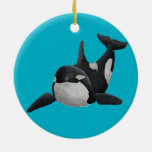 Painted Orca Ornament