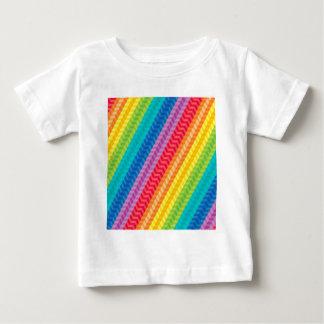 Painted Palette Rainbow Herringbone Pattern Baby T-Shirt