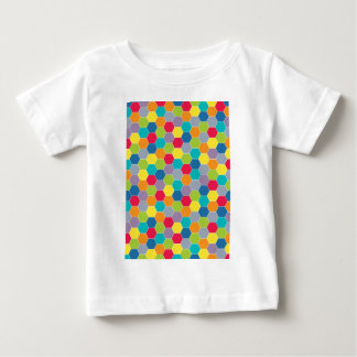 Painted Palette Rainbow Hexagons Pattern Baby T-Shirt