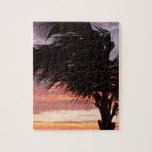 Painted Palm Sunset Jigsaw Puzzle