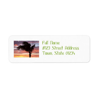 Painted Palm Sunset Return Address Labels