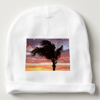 Painted Palm Sunset Baby Beanie