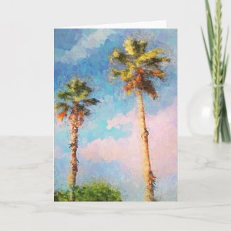 Painted Palms Card