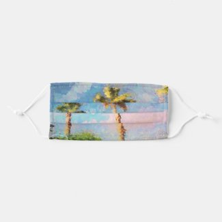 Painted Palms Cloth Face Mask