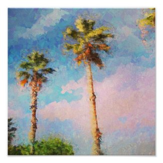 Painted Palms Poster