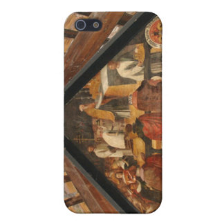 Painted panel from the wooden bridge Luzern Covers For iPhone 5