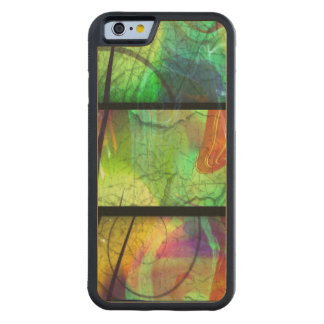 Painted Panes Carved Wood iPhone 6 case