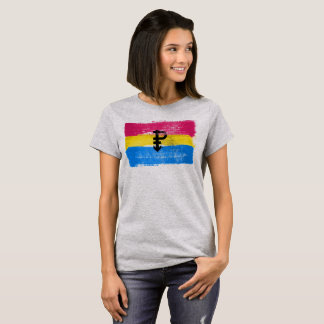 PAINTED PANSEXUAL PRIDE FLAG and SYMBOL T-Shirt