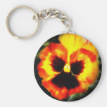 Painted Pansy Keychains
