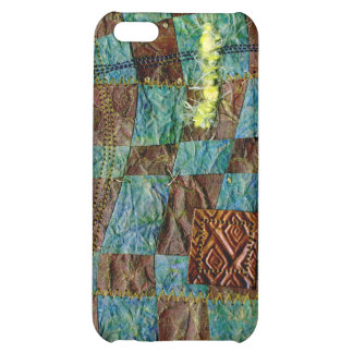 Painted Paper Weaved and Stitched iPhone 5C Covers