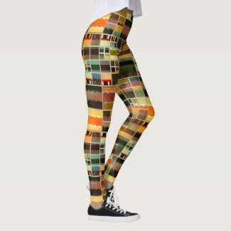 Painted Patchwork Pattern Designer Leggings