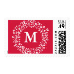 Painted Peace   Monogrammed Holiday Postage Stamp