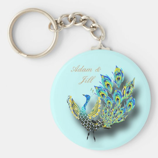 Painted Peacock keychain