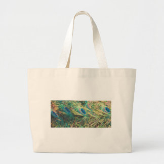 Painted Peacock Large Tote Bag