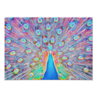 *Painted Peacock* Spirit Poster Print