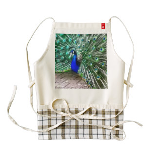 painted peacock zazzle HEART apron