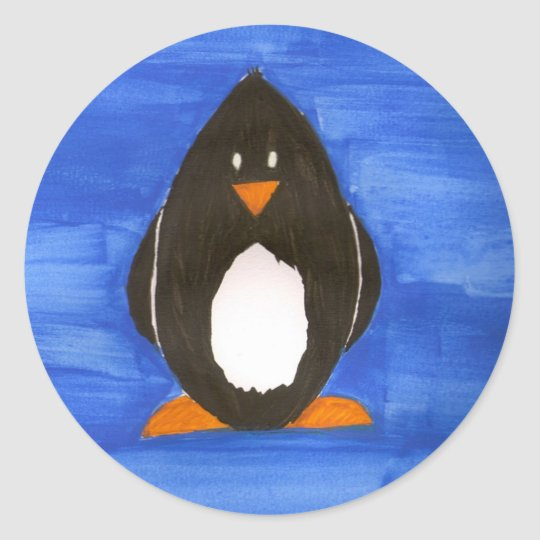 Painted Penguin stickers