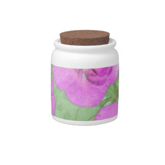 Painted Petunias Candy Jar