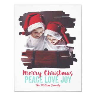 Painted Photo Frame Peace Love Joy 4.25x5.5 Paper Invitation Card