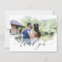 Painted Photo Wedding Thank You Card Ethereal Airy