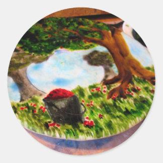 Painted Pie Round Stickers
