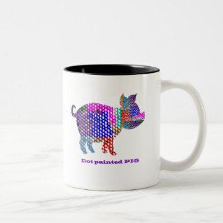 Painted PIG Two-Tone Coffee Mug