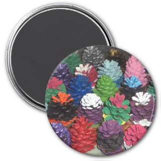 Painted Pine Cones Magnet