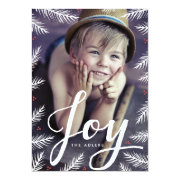 "Painted Pine Holiday Photo Card 5"" X 7"" Invitation Card"