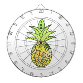 PAINTED PINEAPPLE DART BOARDS