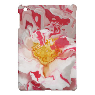 Painted Pink Camellia Abstract iPad Mini Case