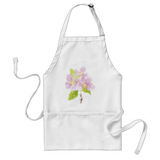 Painted Pink Flowers Adult Apron