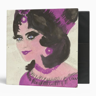 Painted Pink Lady 3 Ring Binder