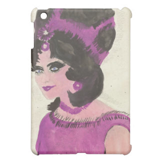 Painted Pink Lady iPad Mini Cover