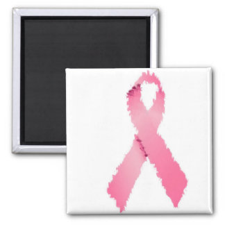 Painted Pink Ribbon Magnet