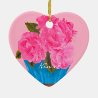 Painted Pink Roses-Christmas Ornament