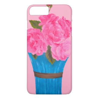 Painted Pink Roses-iPhone 7 Plus Case