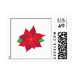 Painted Poinsettia Stamp