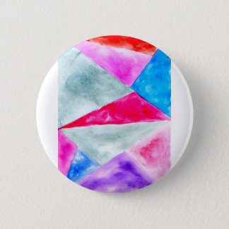 Painted Polygonal Background2 Pinback Button