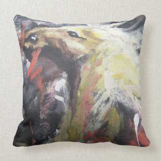Painted pony 1 throw pillow