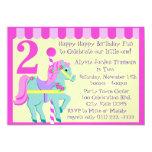 Painted Pony/ Birthday 5x7 Paper Invitation Card