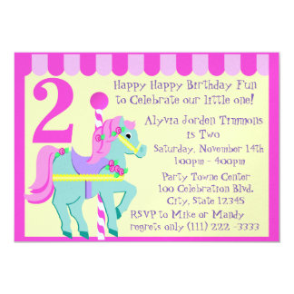 Painted Pony/ Birthday 5x7 Paper Invitation Card
