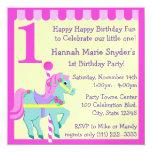 Painted Pony/ Birthday 5.25x5.25 Square Paper Invitation Card