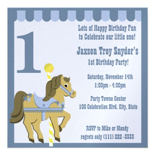 Painted Pony/ Birthday Invite